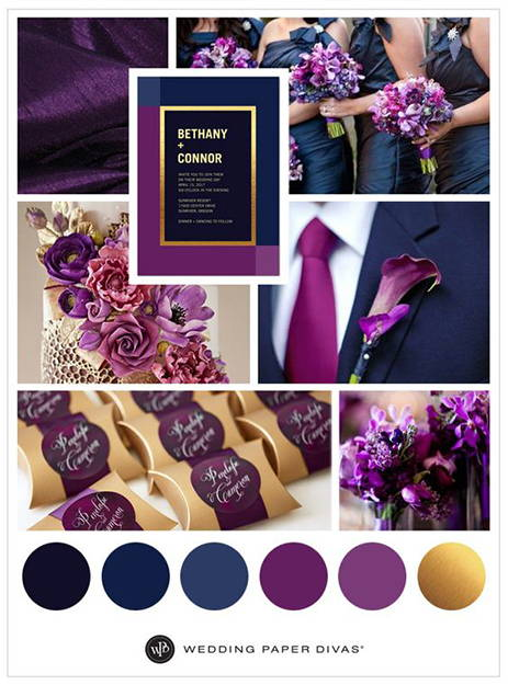 navy and gold wedding inspiration