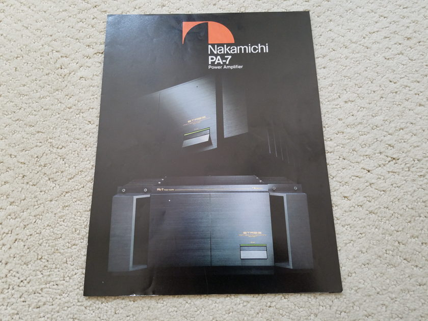 Nakamichi PA-7 Power Amplifier
