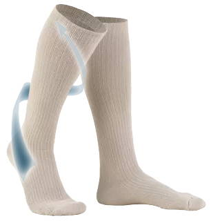 Ladies' Knee High Casual Socks With Arrow Travelling Up Leg