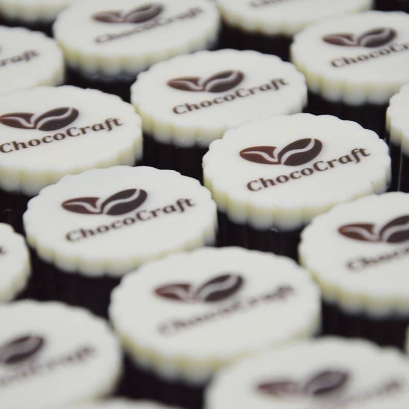 ChocoCraft Logo on Chocolates