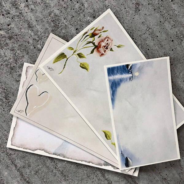 Begravningskort, kondoleanskort och sorgkort
