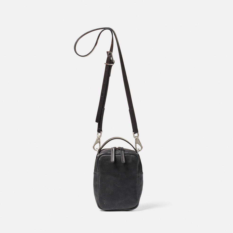 Hurley Calvert Leather Crossbody Bag in Black
