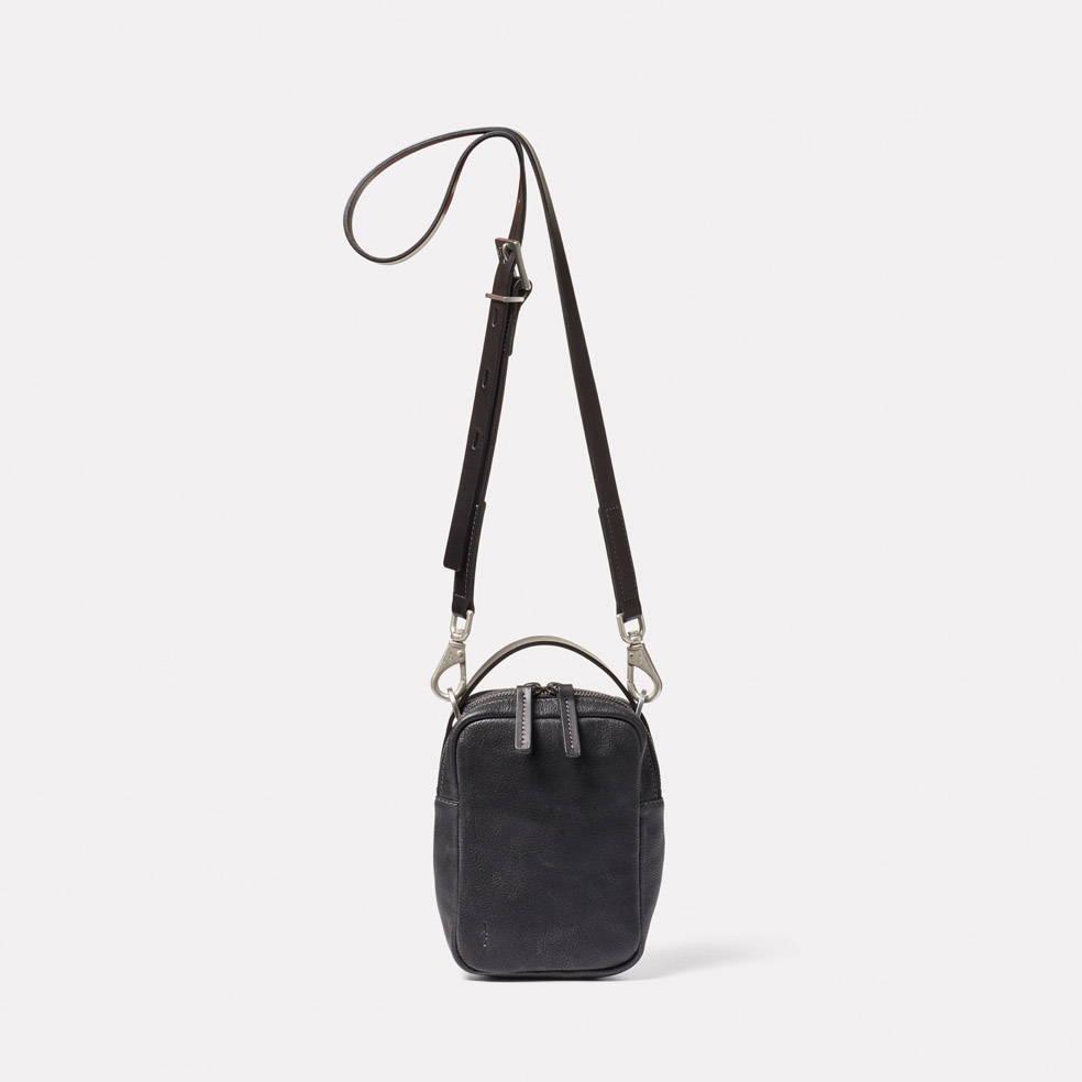 Hurley Calvert Leather Crossbody Bag in Black