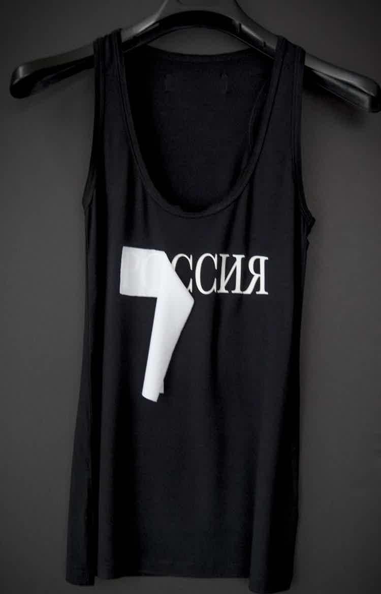 Майка черная Россия