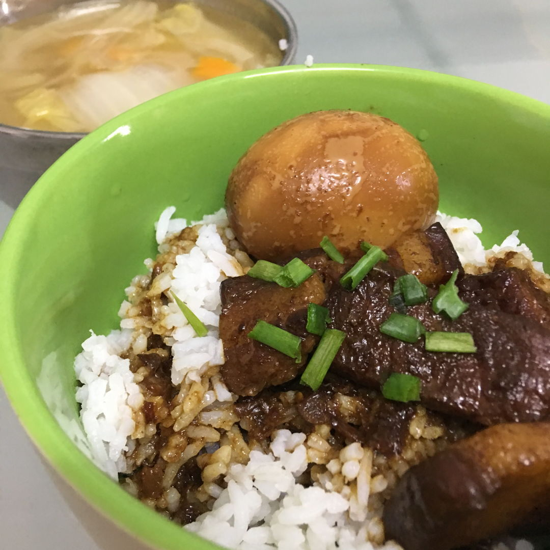 May 11th, 20 - Tau eu bak /pork belly braised in soy sauce with napa cabbage soup.