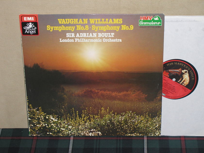 Boult/LPO    Williams Sym. No. 8-9 - EMI/Angel German Import HMV labels