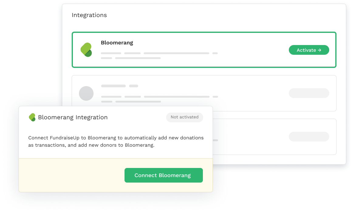 Bloomerang Integration