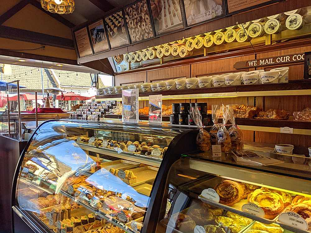 Colorful pastries inside the Danish Mill Bakery in Solvang Santa Ynez Valley