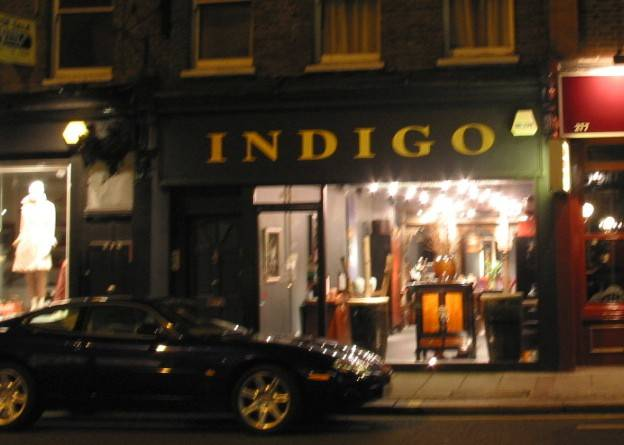 Indigo Antiques second shop in London's New King's Road back in the 90's.