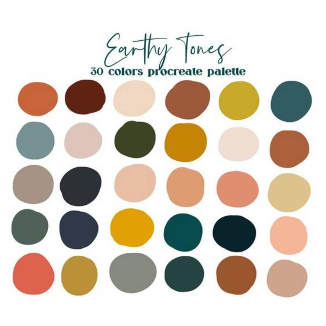 Earthy neutral colour palette for nursery interior decor