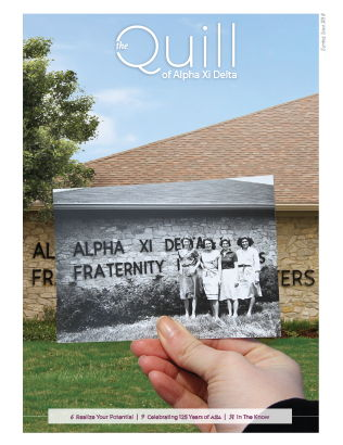 Cover of The Quill of Alpha Xi Delta Spring 2018