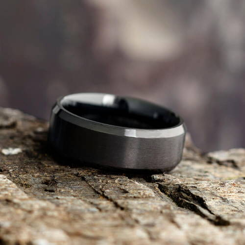Black Stainless Steel Black Metal Ring