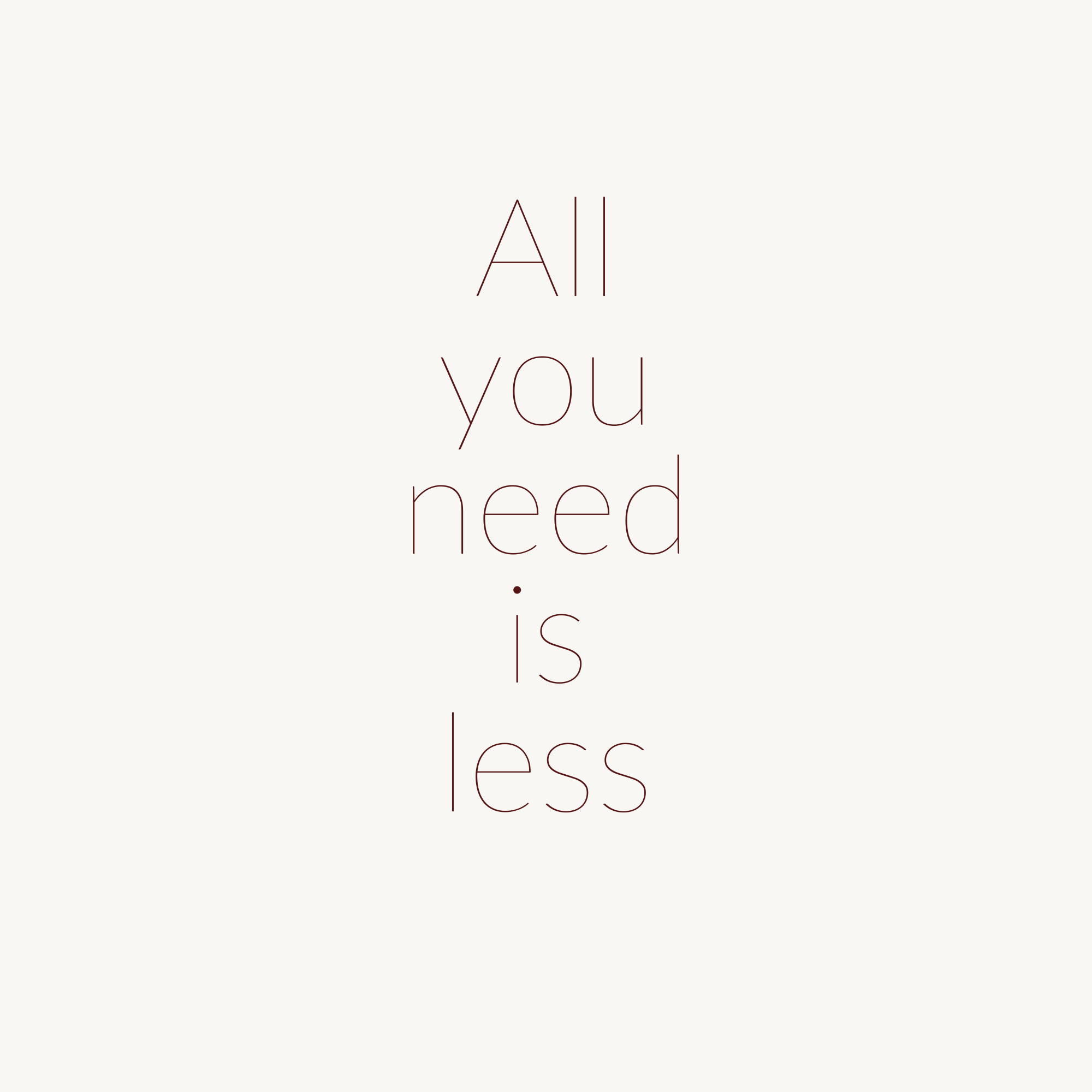 All you need is less Sceona