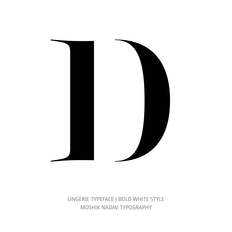 Lingerie Typeface Bold White D