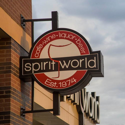 Picture of Help support local by stopping by Spirit World for to go drinks, wine, and cocktails!