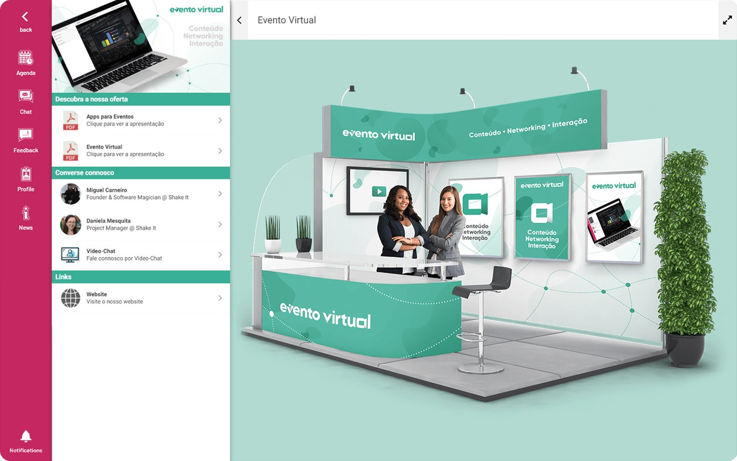 Virtual Exhibition Stands in Virtual Events