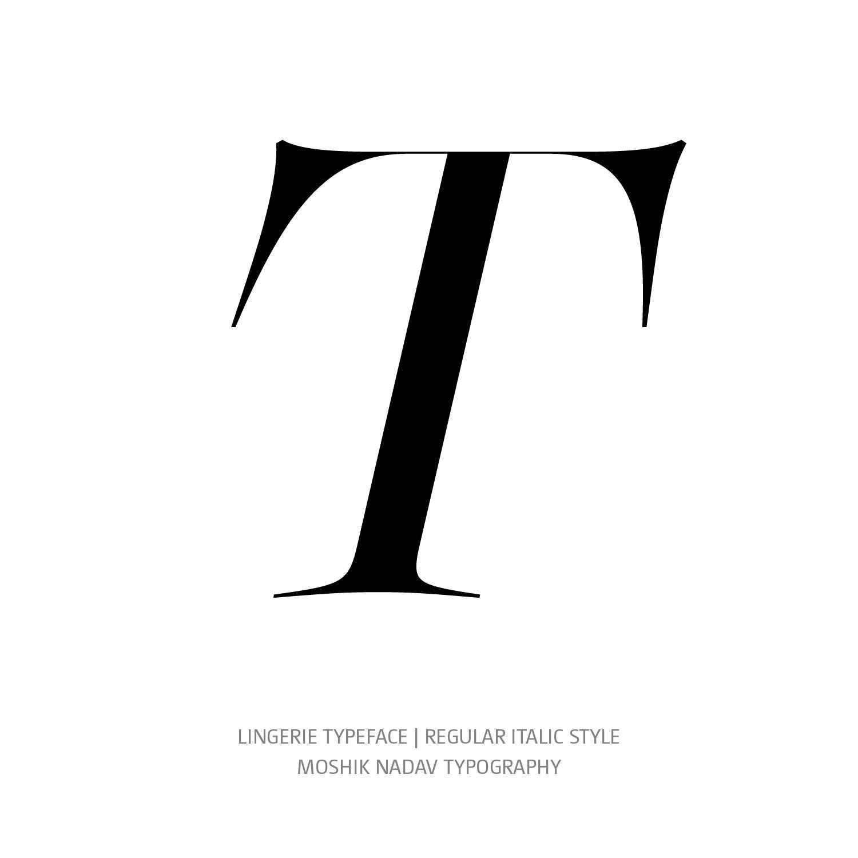 Lingerie Typeface Regular Plain T- Fashion fonts by Moshik Nadav Typography