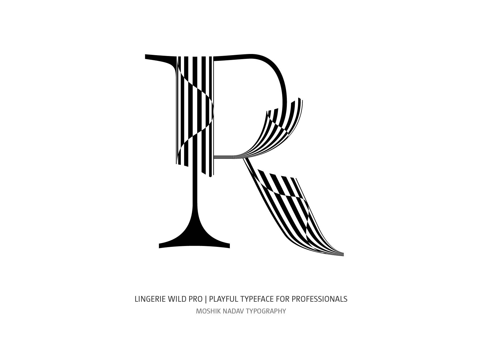 Essential font for luxury brands by Moshik Nadav Fashion Typography