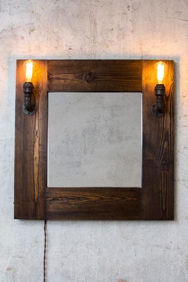 """Зеркало с подсветкой в стиле лофт """"Speil"""""""