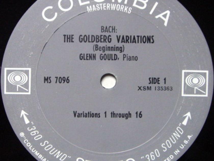 Columbia 2-EYE / GLENN GOULD, - Bach Goldberg Variations, VG+!
