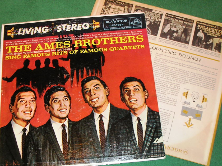 AMES BROTHERS - - SING FAMOUS HITS * RCA BLACK DOG LSP-1954 * 9/10