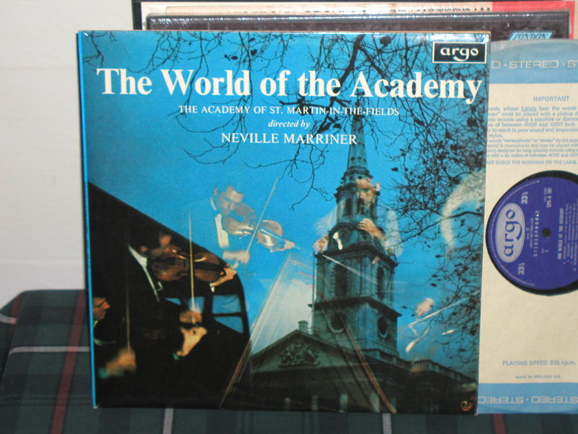 Marriner/Aostmitf - Handel/Telemann UK Argo/Decca spa-101