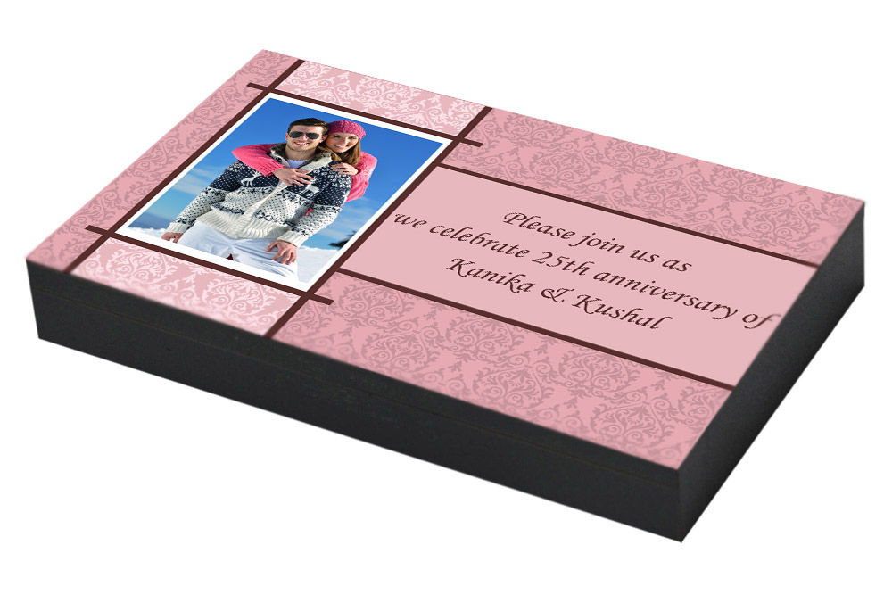 Personalised Invitation card for 25th Anniversary