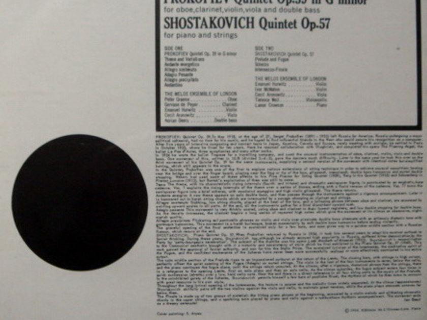★Sealed★ London-L'OISEAU-LYRE /  - MELOS ENSEMBLE, Prokofiev-Shostakovich Quintets!