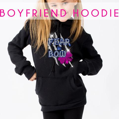 glitterstarz boyfriend hoodie black custom rhinestone sweatshirt