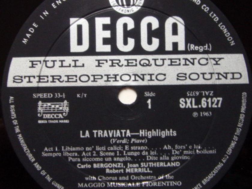 DECCA SXL-WB-ED2 / PRITCHARD-SUTHERLAND, - Verdi La Traviata Highlights, NM!