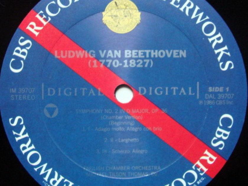 CBS Digital / TILSON THOMAS, - Beethoven Symphonies No.1 & 2, NM, Promo Copy!