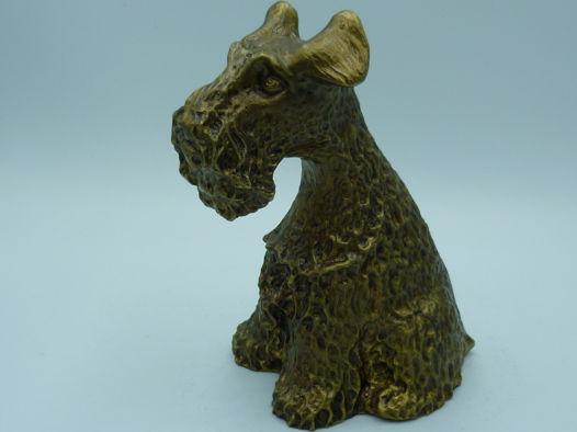 Фигурка бронзовая, собака породы Скотч-терьер.