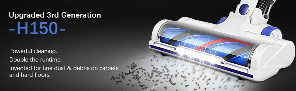 APOSEN Upgraded 3rd Generation Cordless Vacuum Cleaner—H150