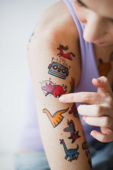Переводная татуировка Space (набор)