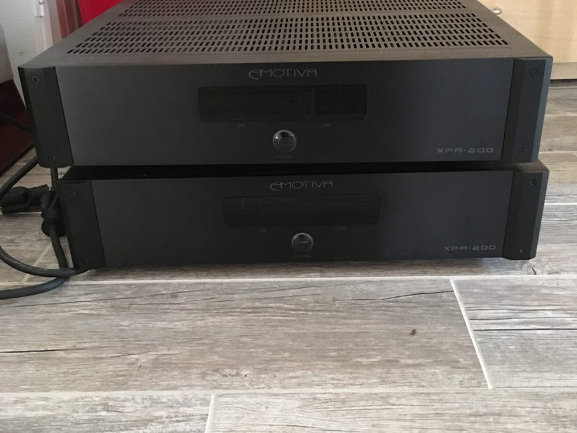 Martin Logan Speaker System and Emotiva XPA-200 Amps