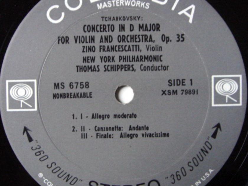 Columbia 2-EYE / FRANCESCATTI-SZELL, - TCHAIKOVSKY-Mendelssohn Violin concertos, NM!