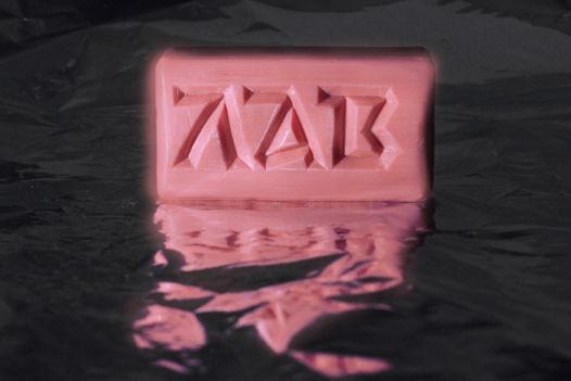 Мыло с надписью ЛАВ