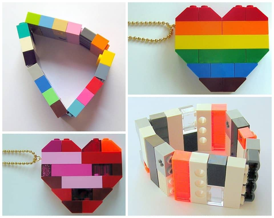 Jewelry inspired by LEGO