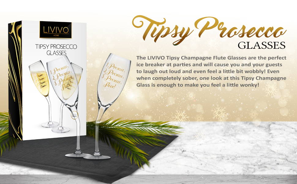 Tipsy Prosecco Glasses