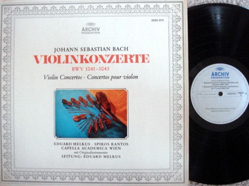 Archiv / MELKUS, - Bach Violin Concertos, NM!