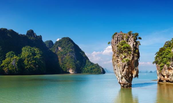 Остров Джеймса Бонда в Таиланде на скоростном катере