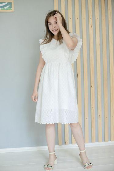 Платье из шитья с оборками