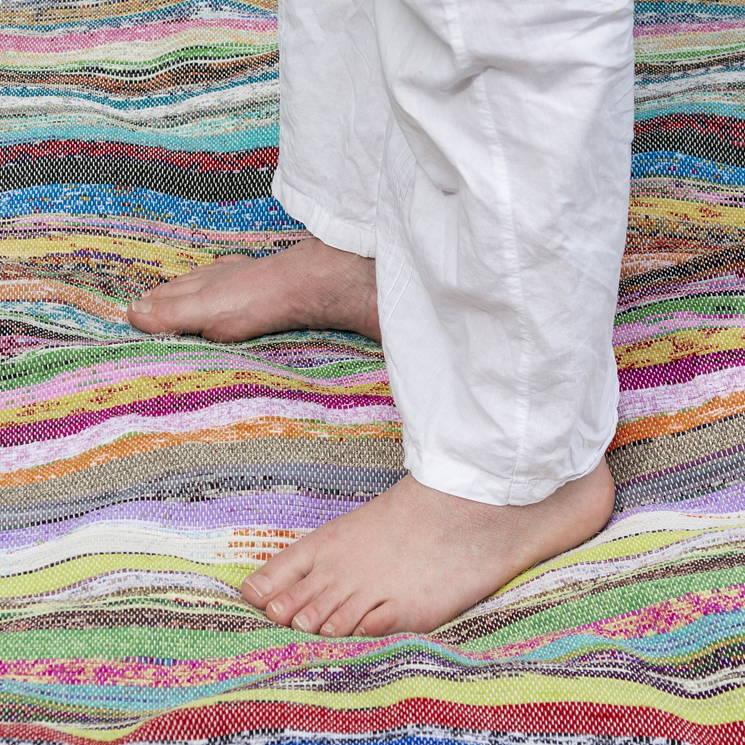 Tapis de Yoga éthique en chanvre coloré