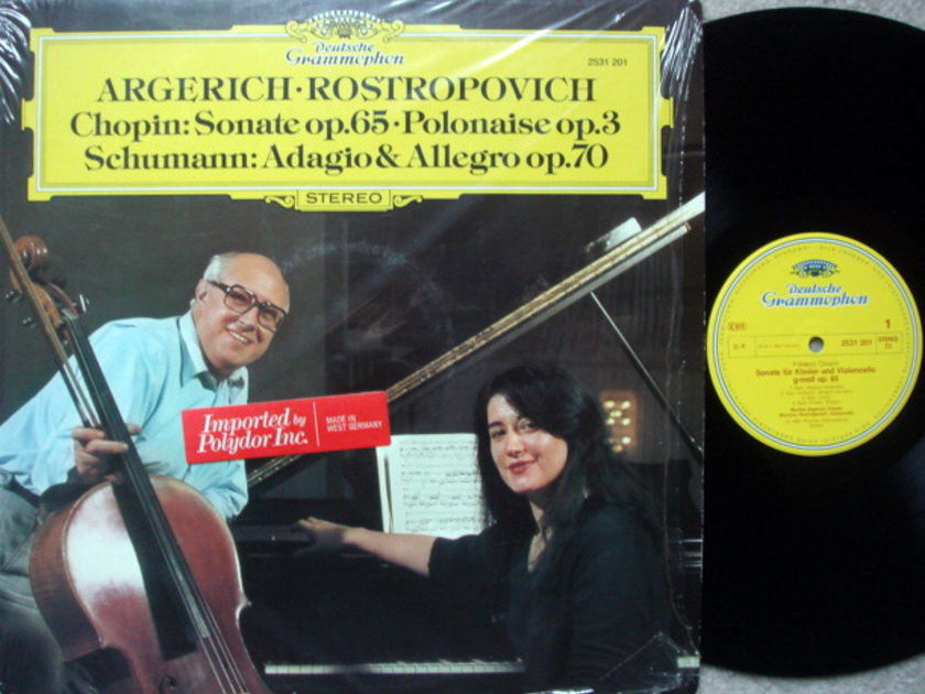 DG / ROSTROPOVICH-ARGERICH, - Chopin Cello Sonata, NM!
