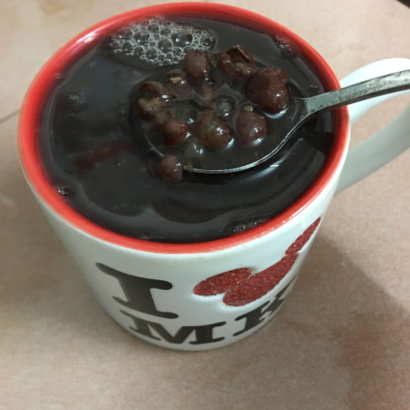 Nov 30th, 2019 - red beans drink with sago.