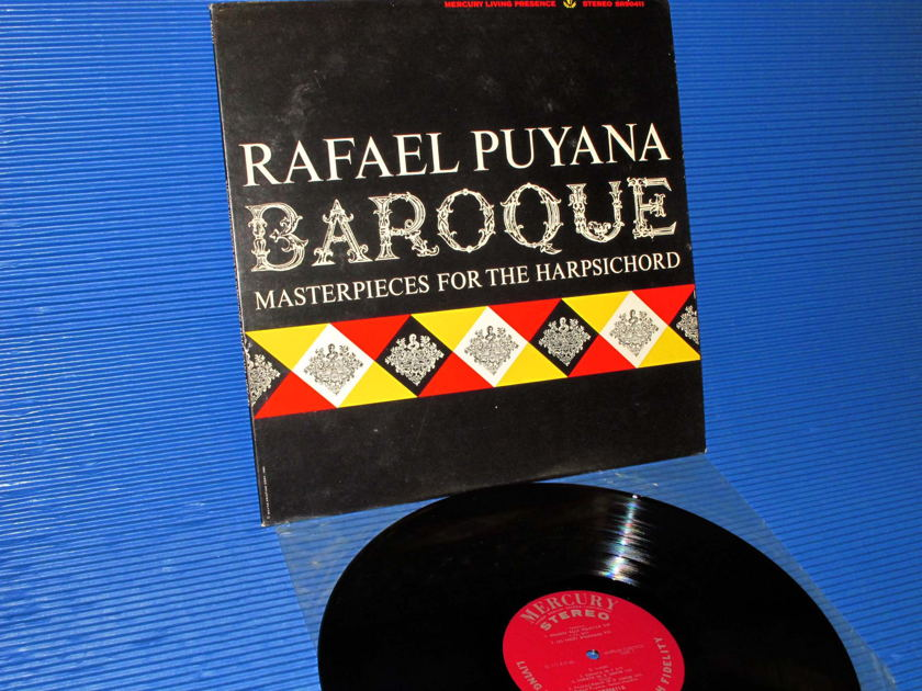 """RAFAEL PUYANA -  - """"Baroque Masterpieces for the Harpsichord"""" -  Mercury Living Presence 1965 Early pressing"""