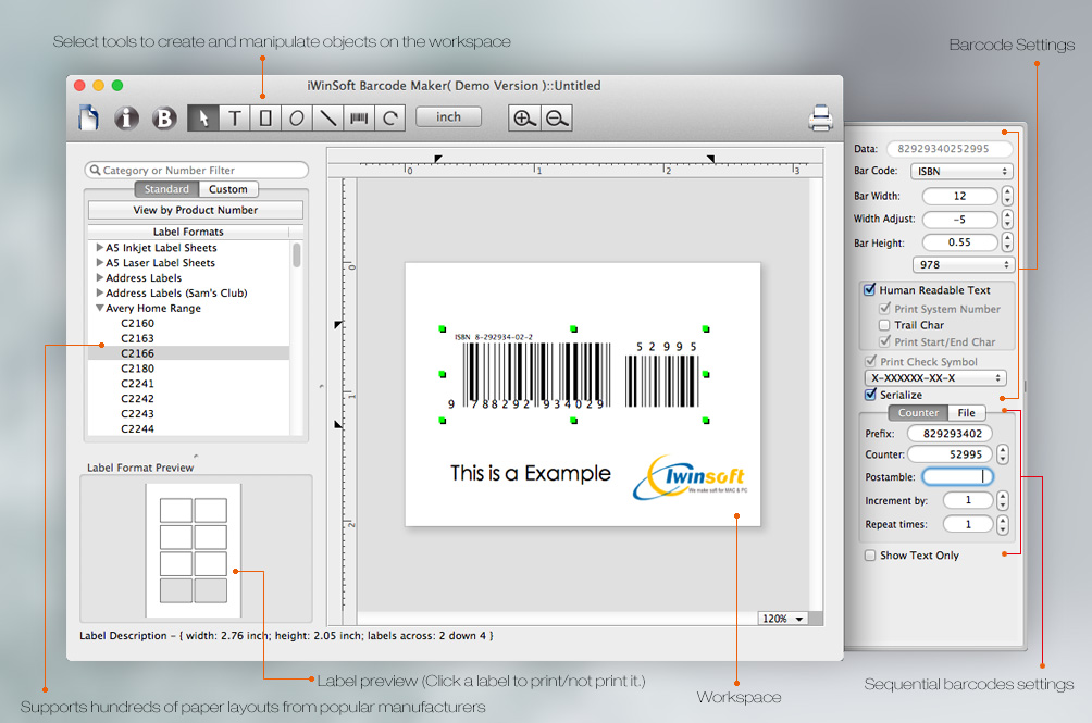 iWinSoft Barcode Maker for Mac Review - Slant