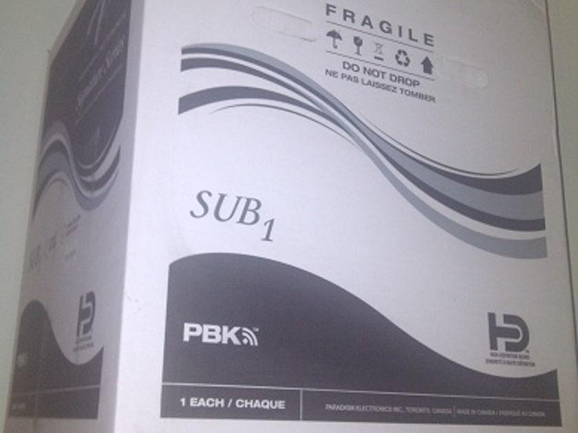 Paradigm Signature Series  Sub 1 in Piano Black (230v)
