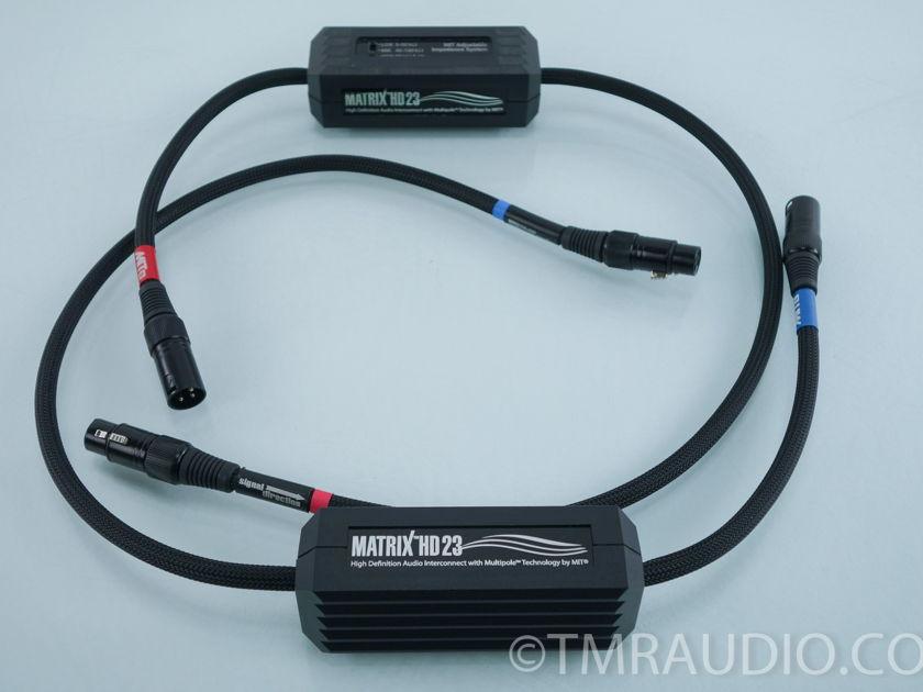 MIT Matrix HD 23 XLR Cables; 1m Pair Interconnects(9563)