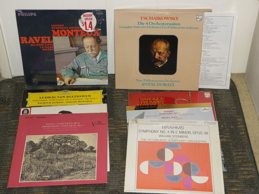 34 LP's from all the best labels - RCA-EMI-Philips-Mercury- London Incl Ormandy-Reiner-Dorati + more